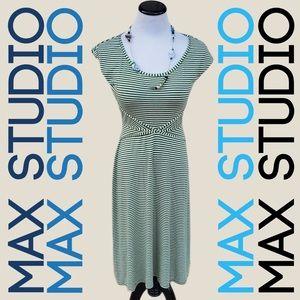 MAX STUDIO Striped Midi Dress